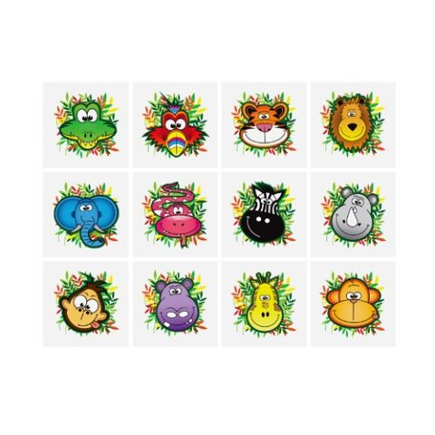 Jungle - Pack of 12 Mini Tattoos